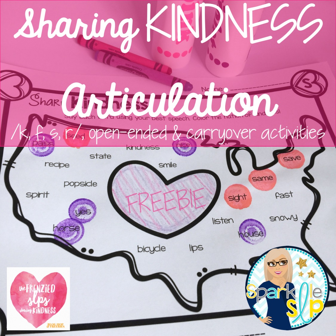 The Frenzied Slps Sharing Kindness Blog Hop Amp Freebies