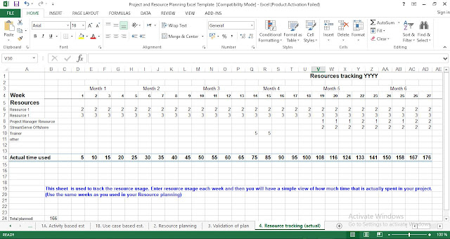 resource tracking template excel