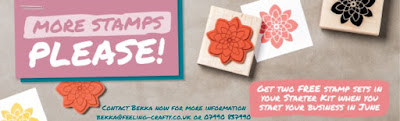 Join Stampin' Up! UK here in June 2016 and get two Extra Stamp Sets for free