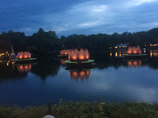 Rivers of Light We Are One Lotus Fountains Sunset