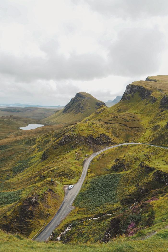 Panorama au Quiraing sur l'île de Skye en Ecosse