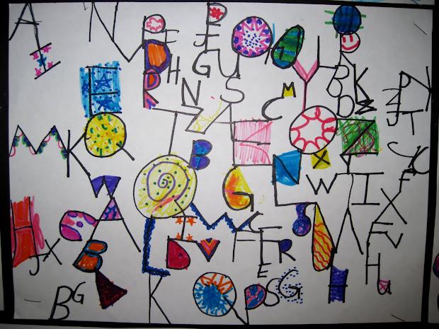 Alphabet Soup Art Lesson