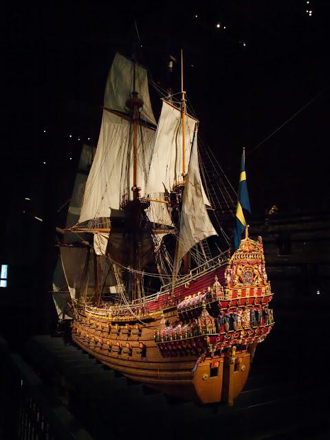 jiemve, Vasa, bâteau, musée, maquette, couleurs décoratives