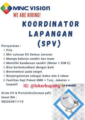 Lowongan Kerja MNC Vision Sebagai Koordinator Lapangan (SPV)