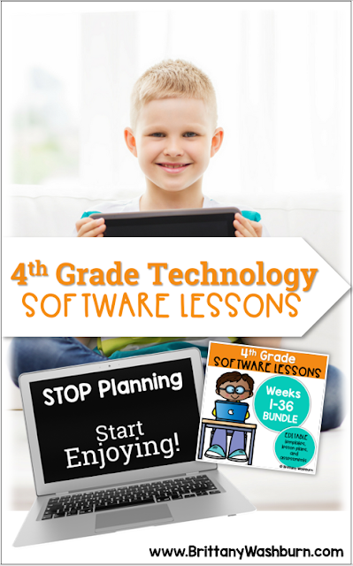 These Spiral Review software lessons for 4th grade teach presentation, word processing, and spreadsheet software over 3 sets 12 sessions.