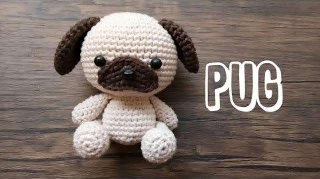 Tutorial Amigurumi Perrito Pug a Crochet Paso a Paso