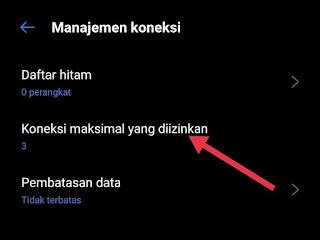 cara membatasi pengguna hotspot