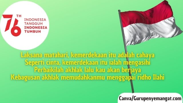 Pantun Kemerdekaan Indonesia, Kemerdekaan Adalah Cahaya