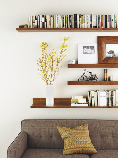 DIY FUNCTIONAL & STYLISH WALL SHELVES FOR INTERIOR HOME DESIGN