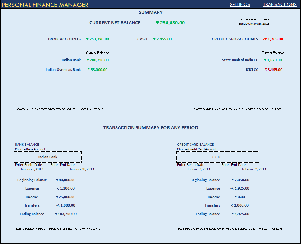 Finance Budget Template you can value your company based on your – Sample Personal Financial Statement Example
