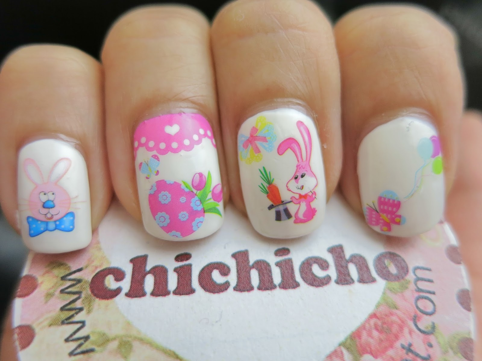 Easter nails with HOT270 Water Decal Nail Art - chichicho~