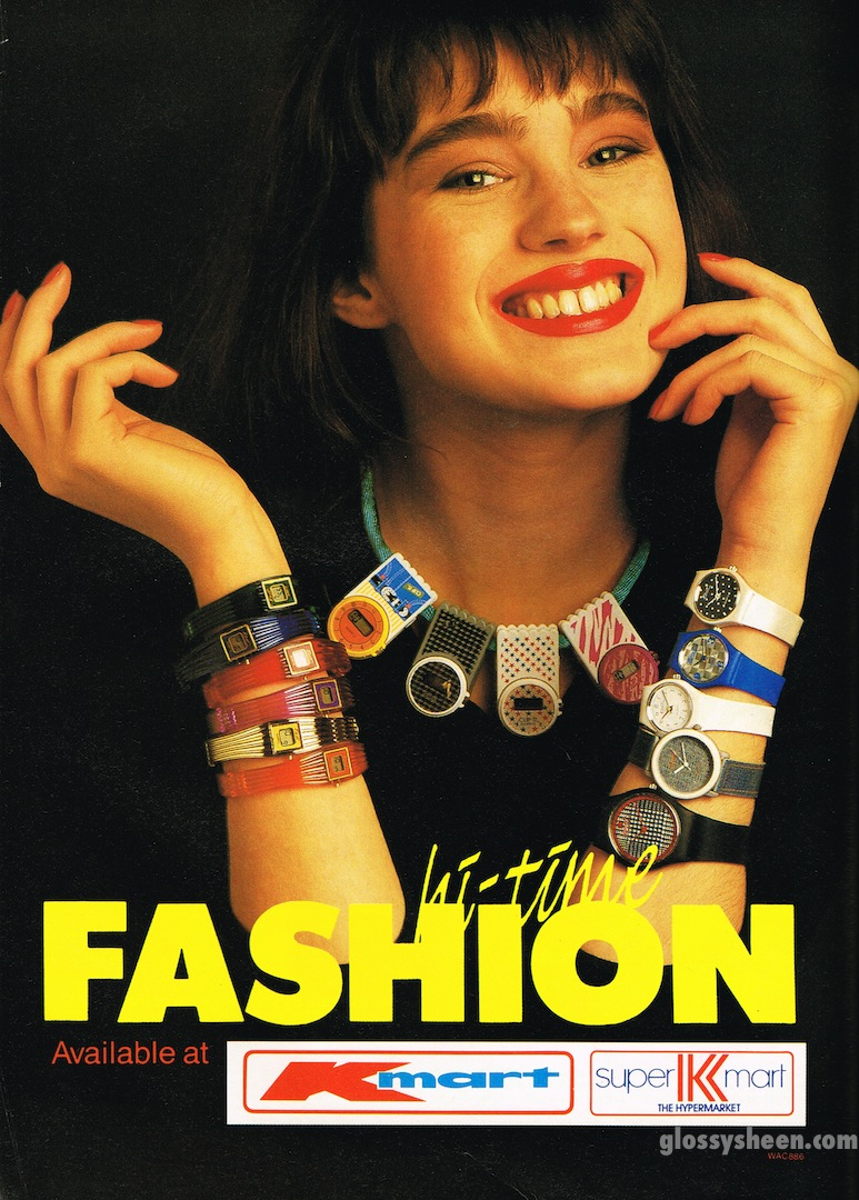 664f6266d9e5 Glossy Sheen  K-Mart Hi-Time Fashion Advertisement - Dolly October 1987