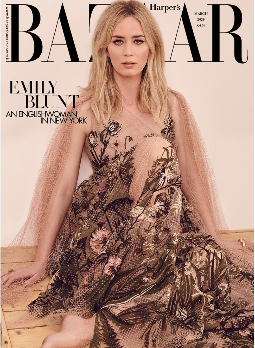 Emily wears Dior dress and Cartier jewellery on the subscriber cover