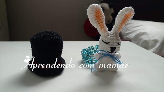 amigurumi, coelho em amigurumi, páscoa, a mágica da cartola, Apostila Especial Circo, círculo, artes manuais