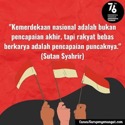 Gambar Ucapan Hari Kemerdekaan Indonesia dari Para Pahlawan Nasional (2)