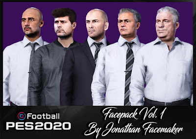 PES 2020 Facepack Vol 1 by Jonathan Facemaker