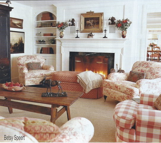 Betsy Speert's Blog: A Country Living Room In The Vermont