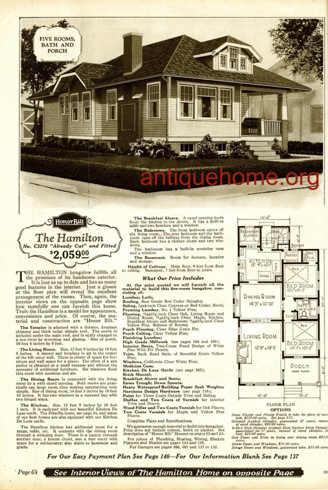 Sears Hamilton bungalow image from catalogue