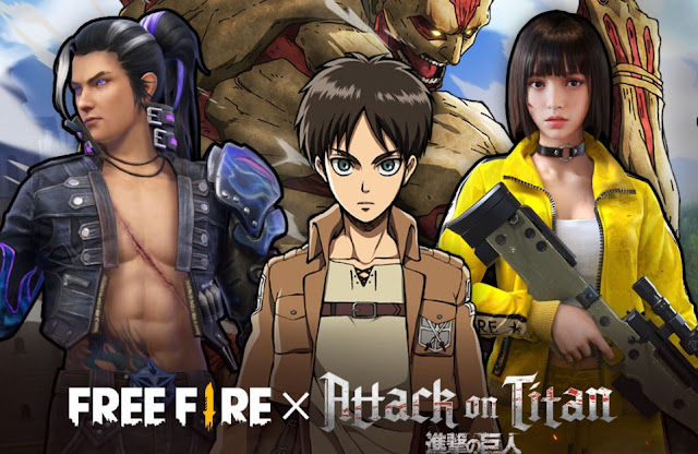 free fire x attack on titan