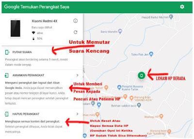 Cara Mencari Hp yang Hilang Via Google Maps