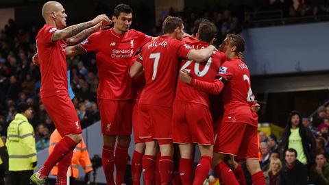 Các cầu thủ của đội tuyển Liverpool