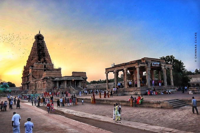 Brihadeeswara Temple from Thanjavur,Tamilnadu