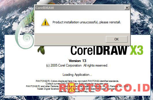 CorelDraw : Product installation unsuccessful please reinstal