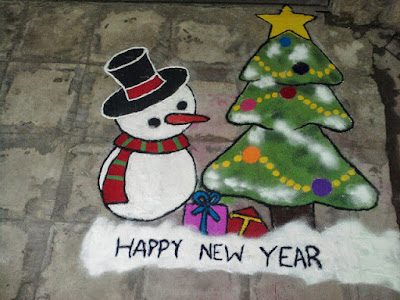 Free Download Happy New Year 2019 Rangoli Designs Images