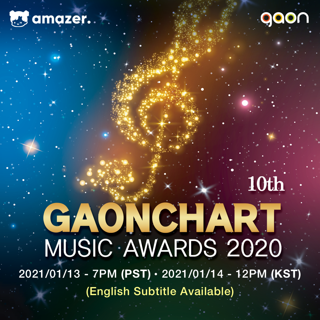The '10th Gaon Chart Music Awards' will be Broadcast Live via Amazer