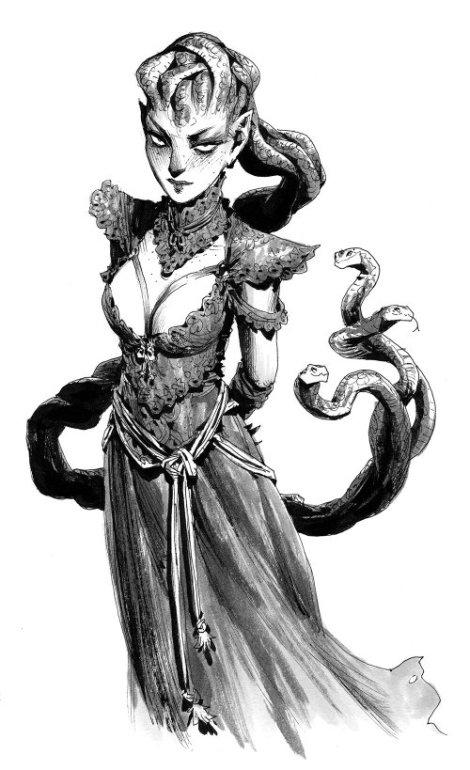 Andrew Mar artstation arte ilustrações fantasia sketches preto e branco