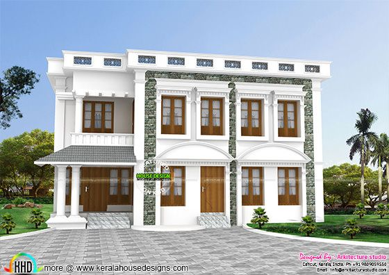 5 bedroom decorative colonial mix home architecture