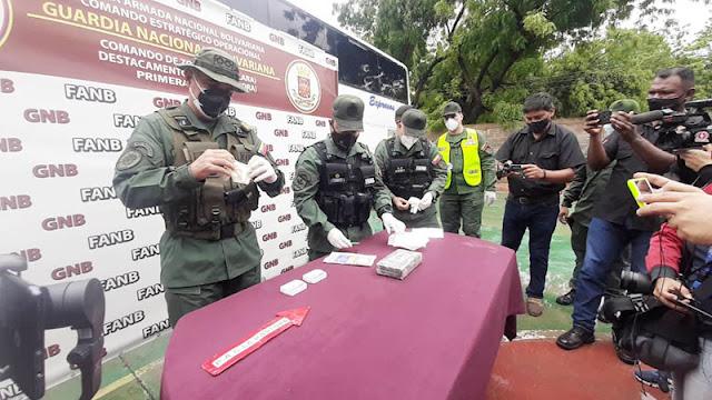 GNB INCAUTÓ MAS DE 190 KILOS DE PRESUNTA COCAINA EN EL PEAJE JACINTO LARA