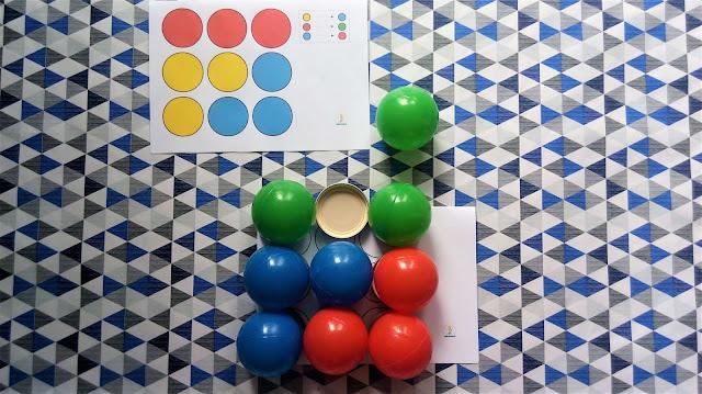 lewopółkulowe układanki z piłek kodowanie dla dzieci
