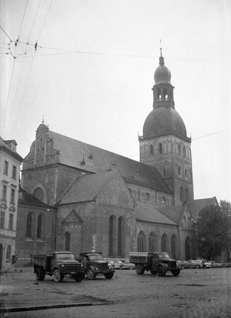 1963 год. Рига. Домский собор. В те годы Концертный зал органной музыки