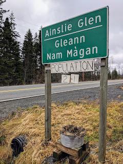 Ainslie Glenn Population Sign