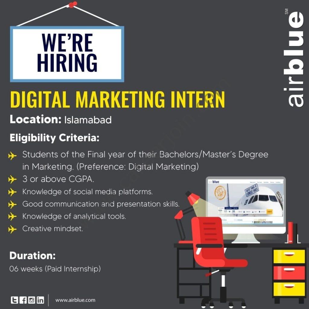www.airblue.com/jobs/ - Airblue Internship 2021 in Pakistan