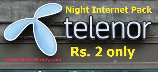Telenor Launches Night Internet Pack For Rs. 2 Only