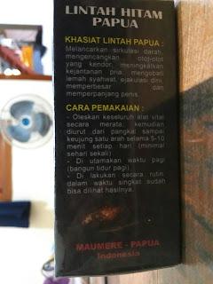 Minyak lintah papua asli, original