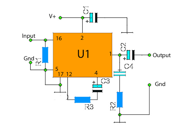 Low power audio amplifier circuit