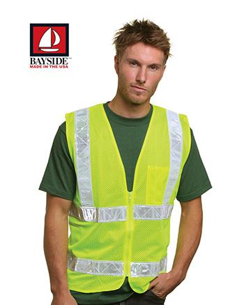 Bayside BA3785 Mesh Safety Vest Lime