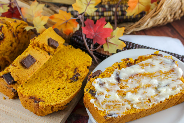 Egg Free Chocolate Chip Pumpkin Bread