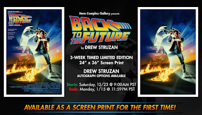 Back to the Future Timed Edition Screen Print by Drew Struzan x Hero Complex Gallery