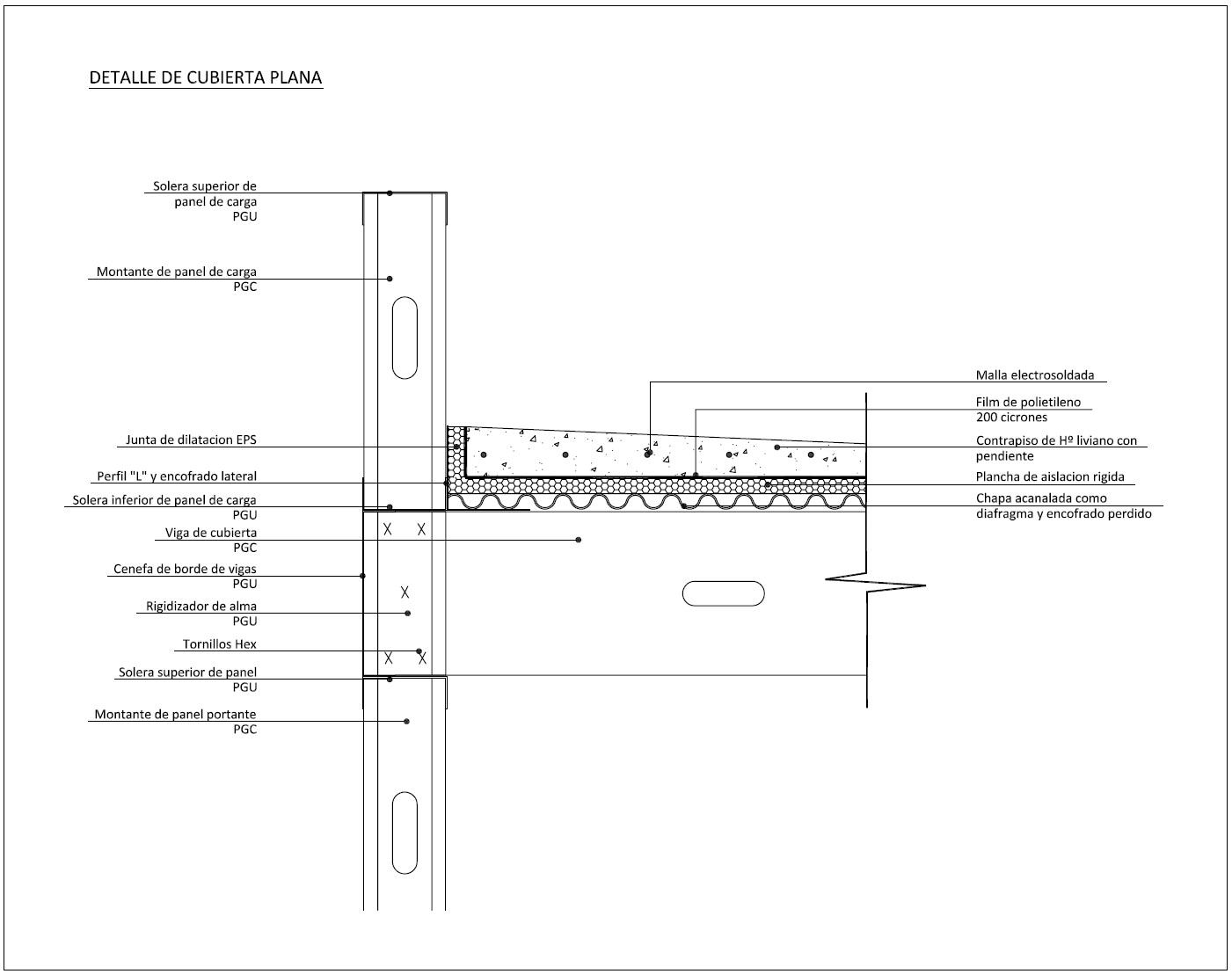Detalles constructivos cad detalles constructivos steelframe - Detalle constructivo techo ...