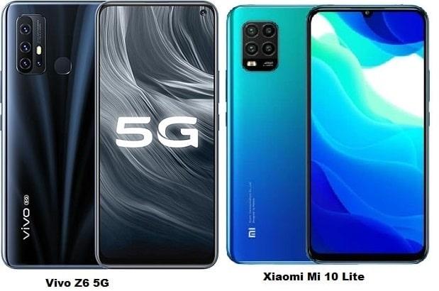 Vivo Z6 5G Vs Xiaomi Mi 10 Lite 5G Specs Comparison