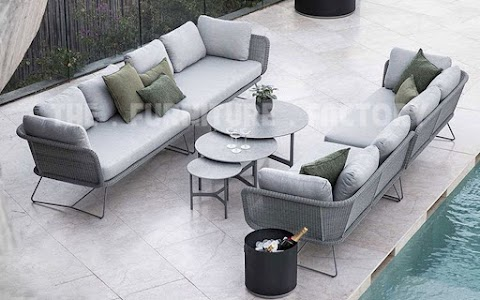 Bộ Sofa Dây Dù Ngoài Trời Màu Xám TFF-002