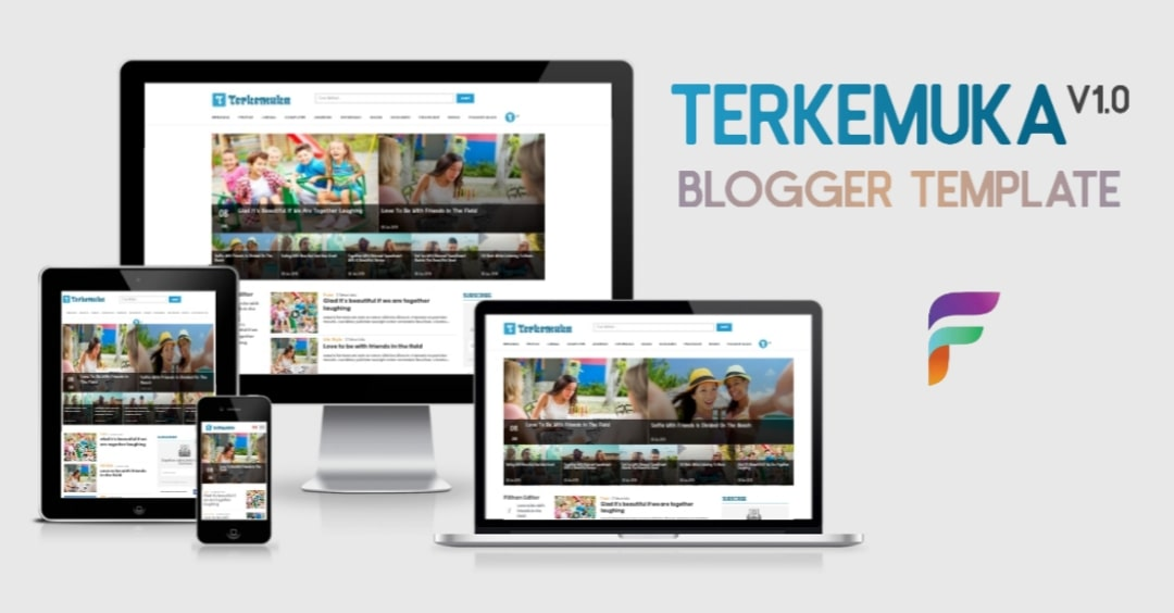 Terkemuka, Template Portal Berita Untuk Platform Blogger