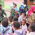 Satgas Pamtas Yonif 411/Pdw Sosialisasikan Pola Hidup Sehat di Sekolah