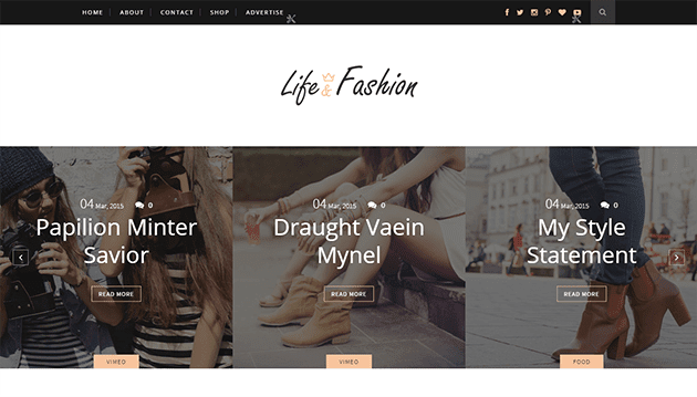 Life & Fashion Minimal Clean & Responsive Blogger Template