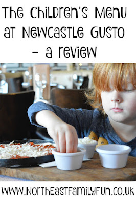 The children's menu at Newcastle Gusto - a review