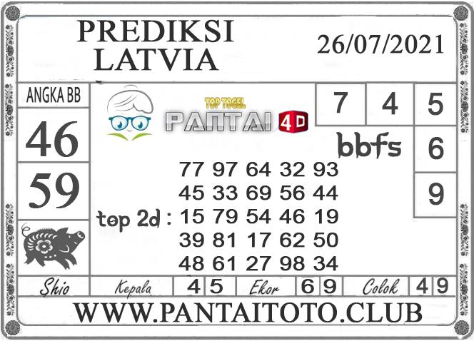 PREDIKSI TOGEL LATVIA PANTAI4D 26 JULI 2021